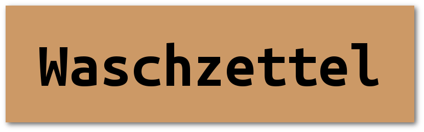 Button-Waschzettel
