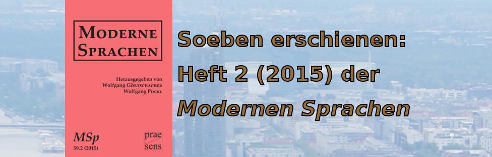 Moderne Sprachen (MSp) 59.2 (2015)